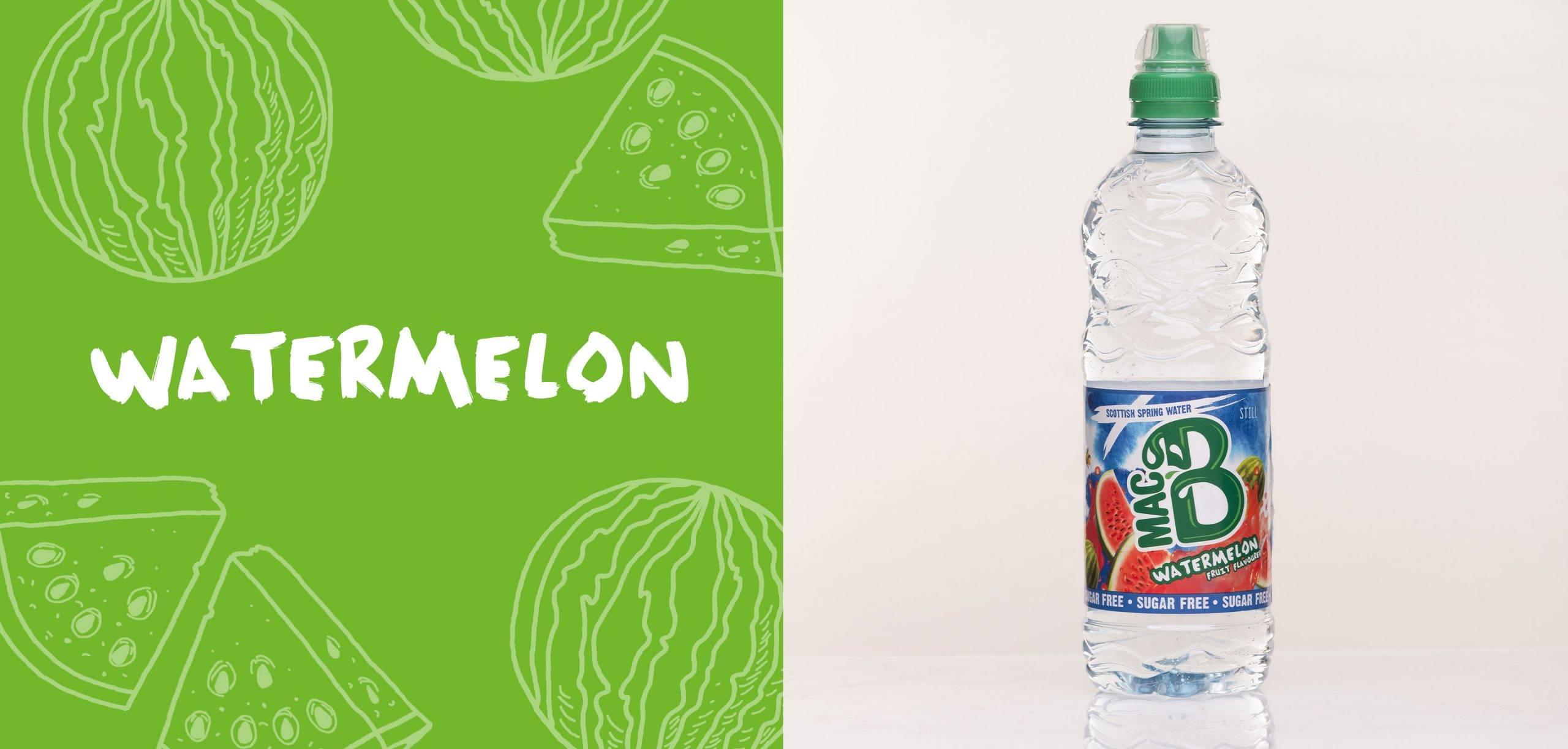 Watermelon flavoured Macb water in a 500ml bottle